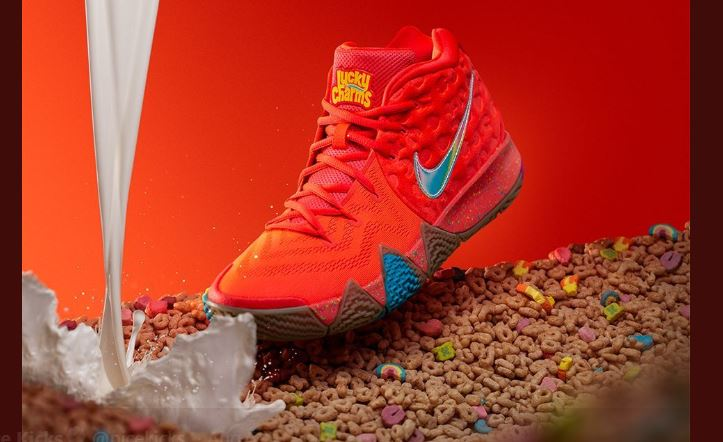 95e98136bf4c The new LUCKY CHARMS x Nike Kyrie 4 is available at footlocker at 10am EST  HERE