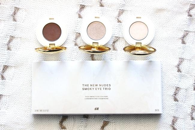 H&M sminka.H&M makeup.H&M the new nudes smoky eye trio.