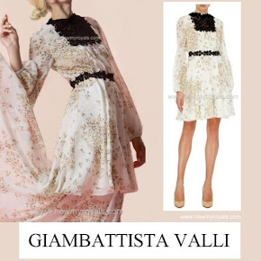Princess Mette-Marit Style GIAMBATTISTA VALLI Dress and PRADA Sandals