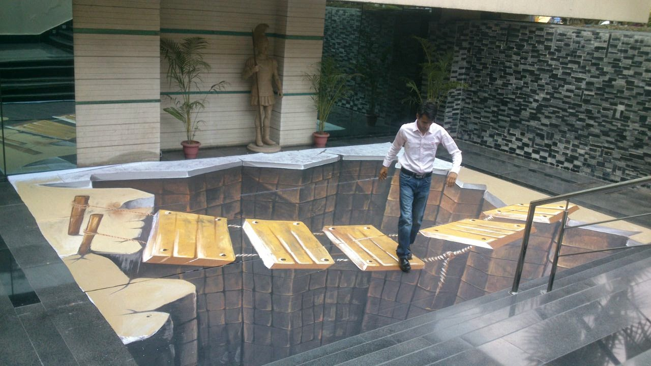3d Street Painting India My Art Installation For India S
