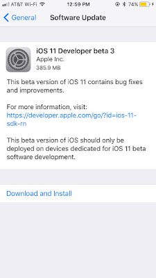 Apple Releases iOS 11 Beta 3 to Developers [Download]