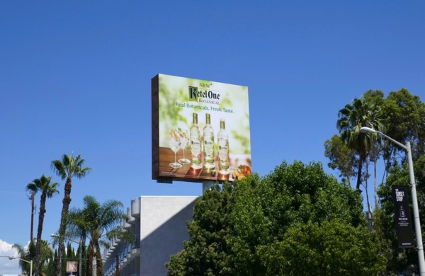 Ketel One Botanical vodkas billboard
