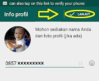 Cara daftar whatsapp