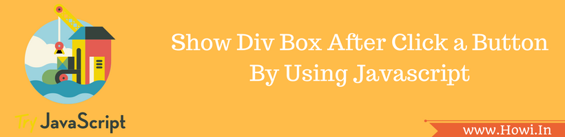 show div box after click a button in javascript