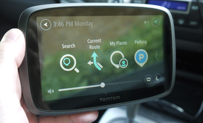 TomTom Go 500 screen