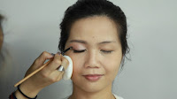Inner Double Folded Eyelid Makeup - Apply color 4 by using small shadow brush right above the liner.
