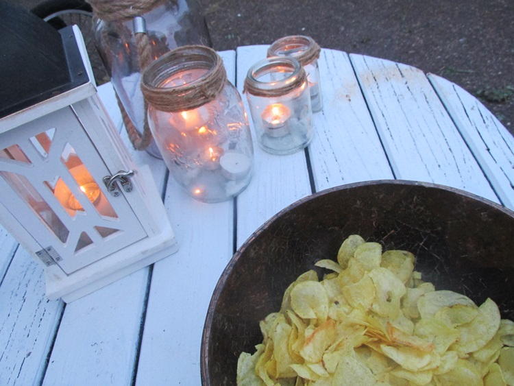 Candlelight and chips - what else?
