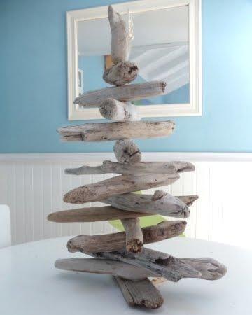 homemade driftwood trees