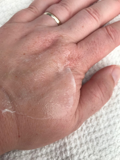 Balm on the back of a hand