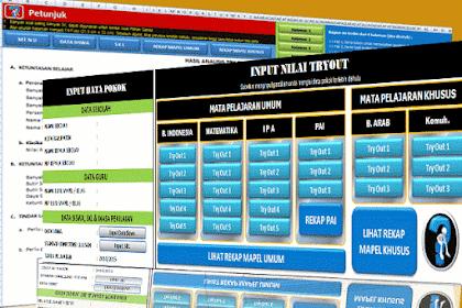 Download Aplikasi Analisis Try Out Ujian Sekolah SD/MI Plus Remedial