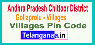 East Godavari District Gollaprolu Mandal and Villages Pin Codes in Andhra Pradesh State