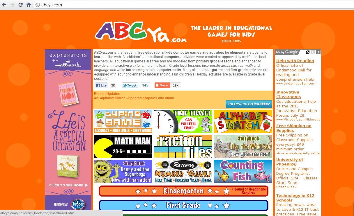 ABCya - Abcya Com Kindergarten
