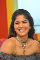 Mega Akash in a sleeveless Off Shoulder Cute Dress Stunnign beauty at Radio Mirchi Promoting Movie LIE ~ Celebrities Galleries 007.JPG