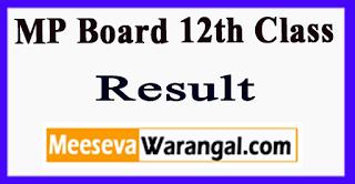 MP Board 12th Class Result 2017