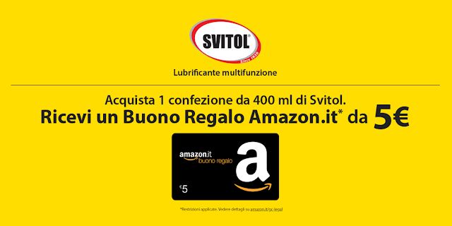 96110485e8 Con SVITOL in REGALO un Buono Regalo Amazon da € 5 (promozione valida fino  al 31/03/2020)
