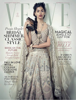Pooja Hegde ravishing on Cover Page of Verve magazine September 2016