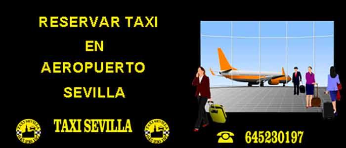 reservar taxi aeropuerto sevilla