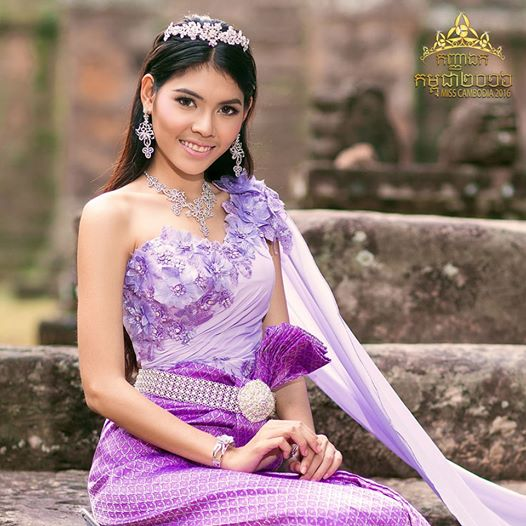 By Sotheary, Miss Cambodia 2016. Photographie fournie