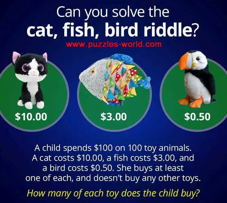 Can you solve the Cat, Fish, Bird Riddle ?