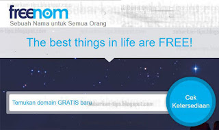 halaman Freenom
