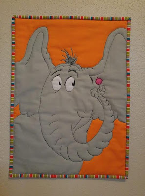 Horton Hears a Who Mini Quilt by Laura Piland Slice of Pi Quilts