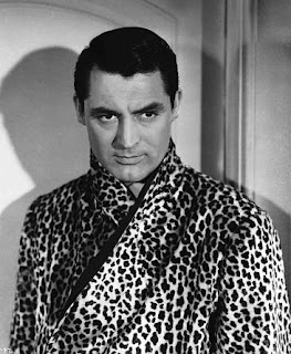 Cary Grant in leopard print robe