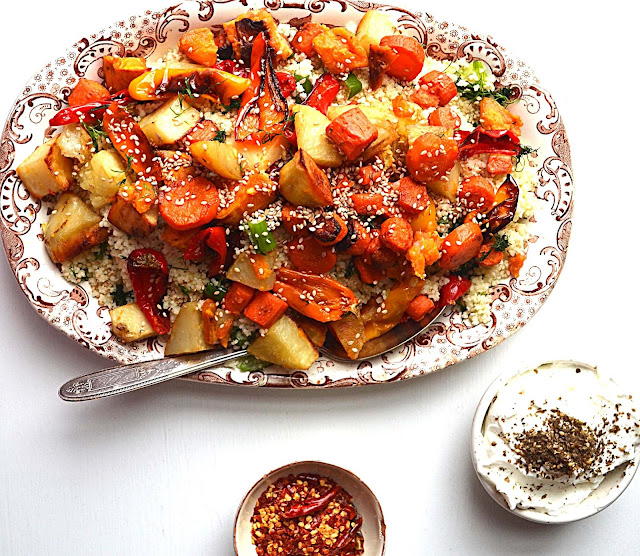 Sew French: Moroccan Roasted Vegetables With Toasted Sesame & Herbed ...