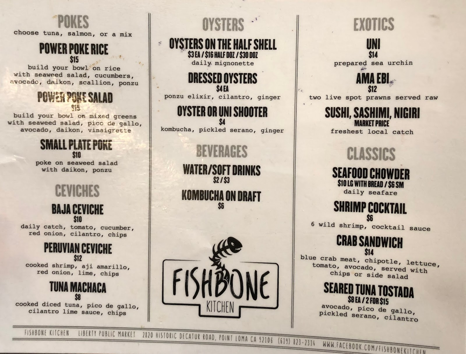 TASTE OF HAWAII: FISHBONE KITCHEN - SAN DIEGO, CA