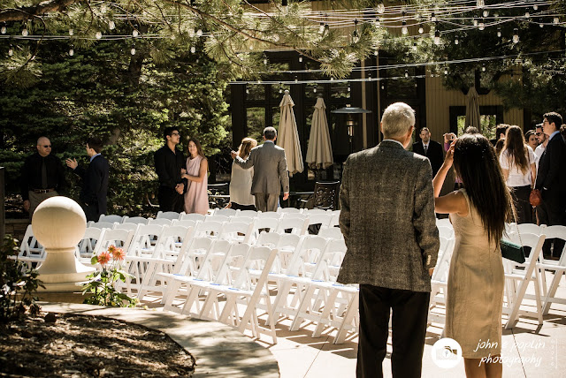 guests arriving for a wedding at the briarwood inn in golden, Colorado