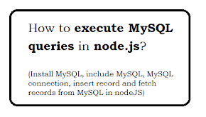 How to execute MySQL queries in node.js?