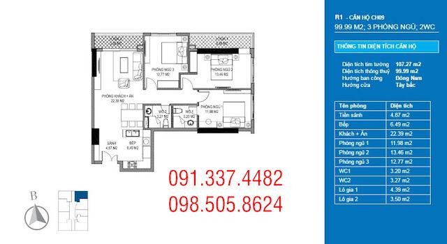 Thiết kế căn hộ chung cư Sunshine Riverside