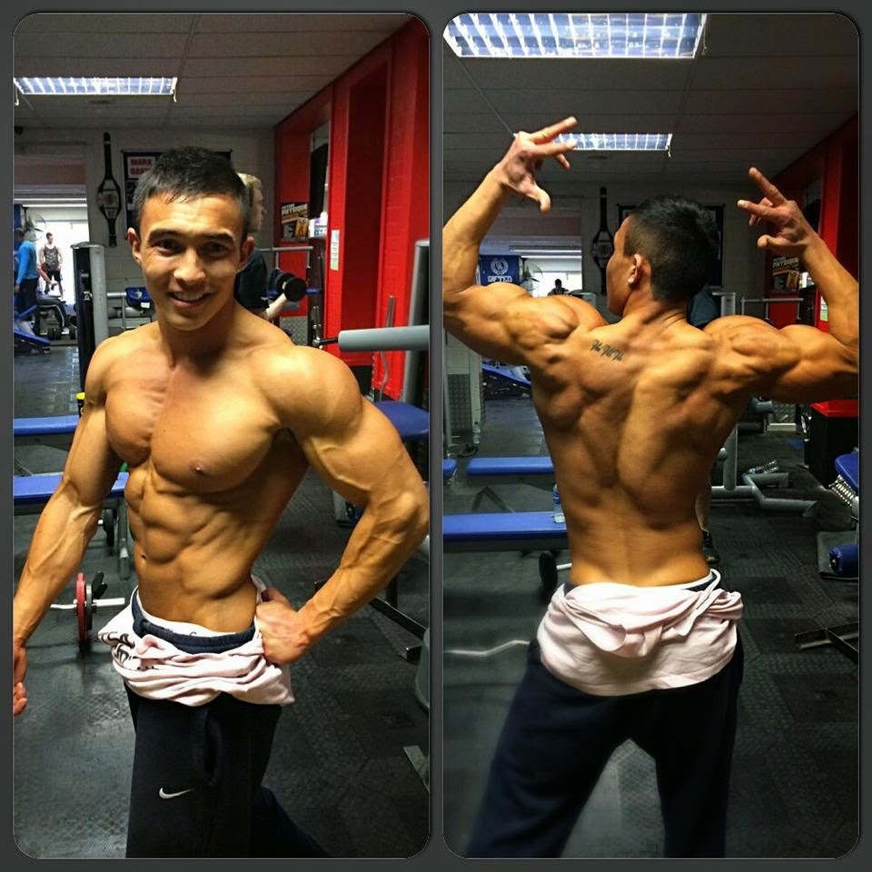 Daily bodybuilding motivation extreme fitness model and bodybuilder