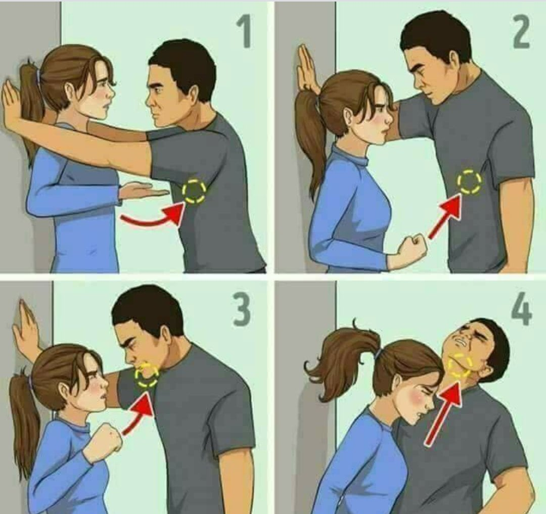 Self defence tips for the ladies ~ Wordless Wednesday