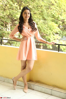 Rukshar Mir in a Peachy Deep Neck Short Dress 134.JPG