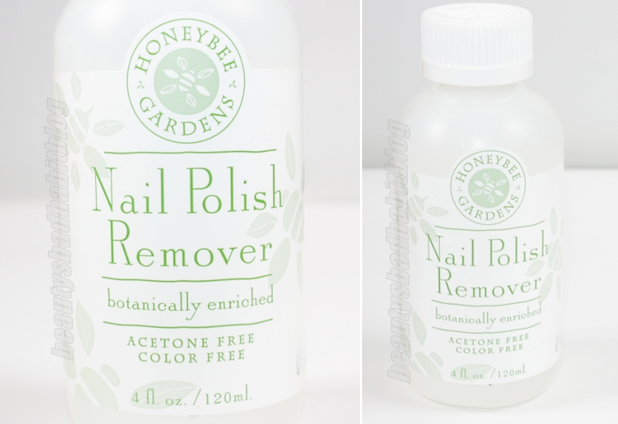 Review Honeybee Gardens Nail Polish Remover Beauty S Bad