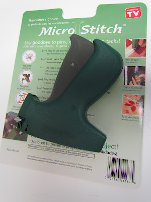 Micro stitch quilt basting gun