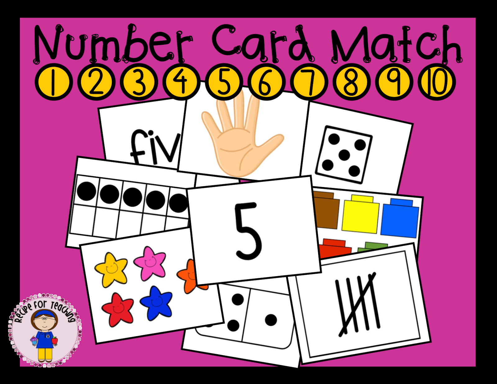 http://www.teacherspayteachers.com/Product/Number-Card-Match-1443237