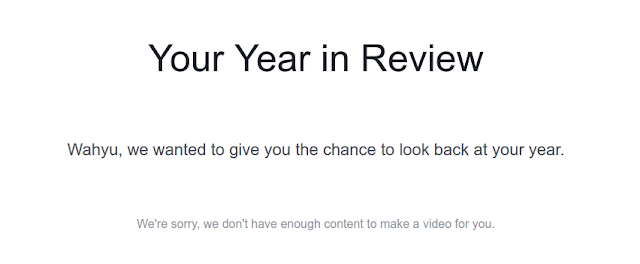 Year in Review error