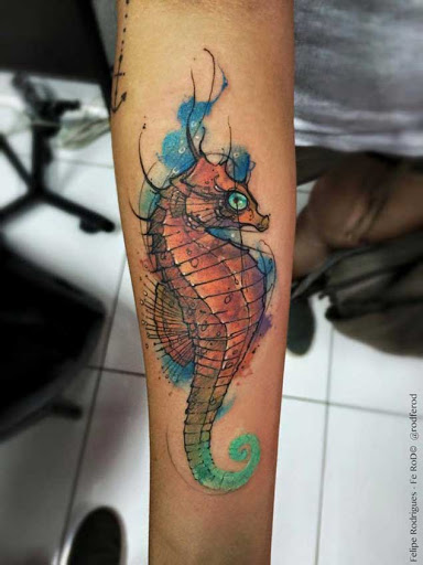 21 tatuagens incríveis de cavalos-marinhos