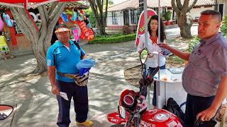 Exhibición de motocicletas SYM Acuaparque del Azúcar