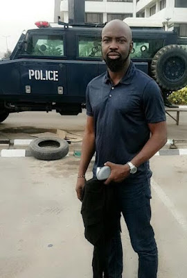 picture of Audu Makori after he was released by police