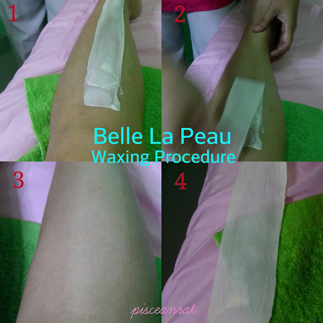 belle la peau, waxing procedure,