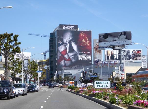 Giant Bridge of Spies film billboard Sunset Plaza