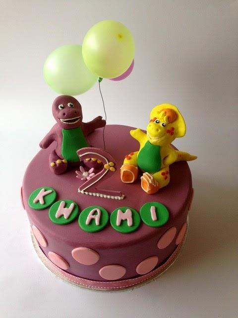Rozannes Cakes Barney Birthday Cake