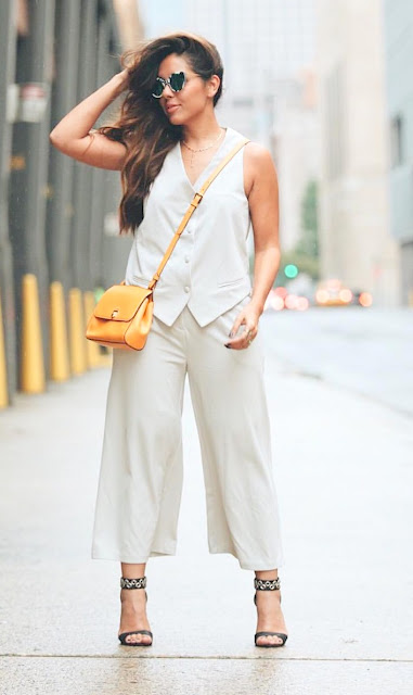 yazmin yeara the hippie nerd nyfw15 day 1 ootd, blazer culottes