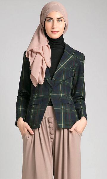 Gambar Model Busana Muslim Blazer Modern