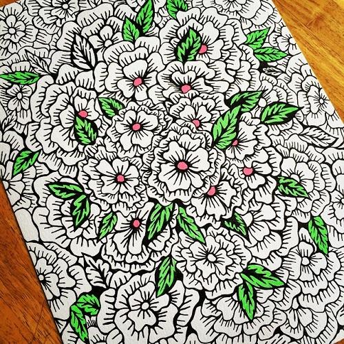 Jenis Doodle Art - Doodle Floral
