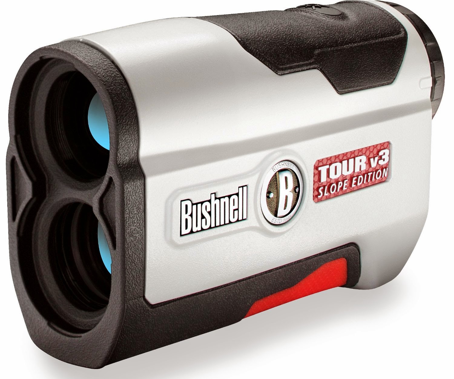 Bushnell Tour V3 Slope Laser Rangefinder with Pin Seeker & Jolt Technology, review, 5x magnification, 24mm objective, performance range of up to 1,000 yards and 300 yards to flag with +/- 1 yard accuracy