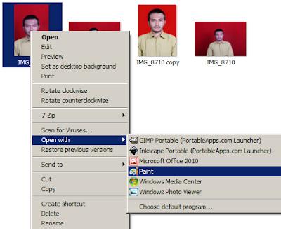 Membuka Foto Menggunakan Aplikasi Paint Untuk Merubah Background Pas Foto