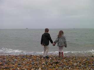 shingle beach in front of southsea castle